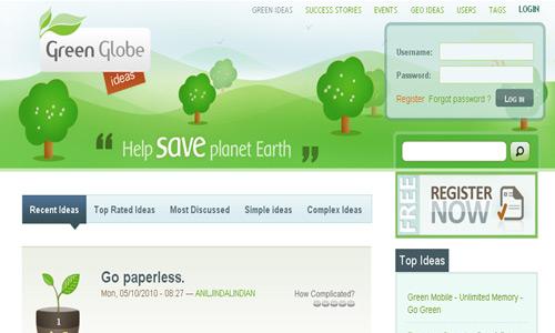green globe ideas