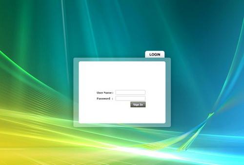 windows vista login page