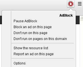Disable adblock in Chrome