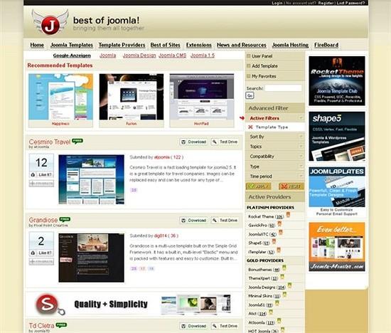 best of joomla - download joomls templates