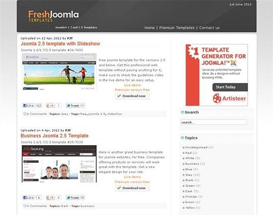 free joomla templates - download joomls templates