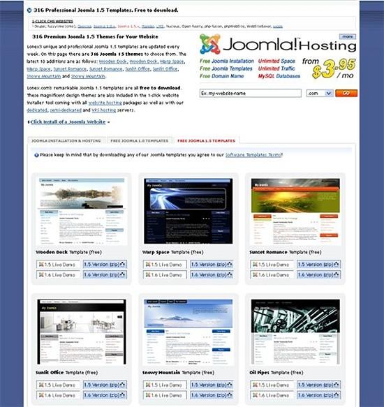 lonex - free joomla themes - download joomls templates