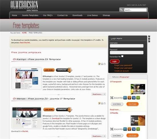 ol web design - download joomls templates
