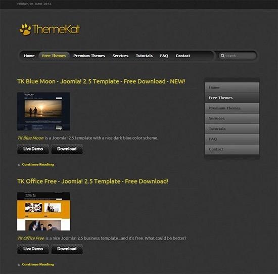 themekat - download joomls templates