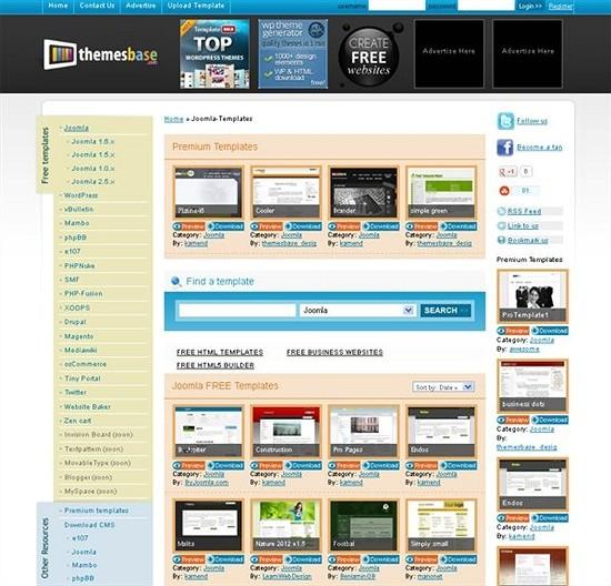themesbase - download joomls templates