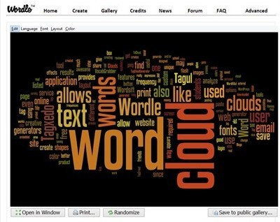 Sentence creator from words